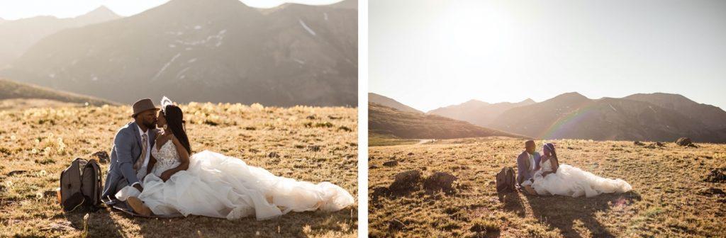 high alpine picnic during an Aspen Colorado elopement