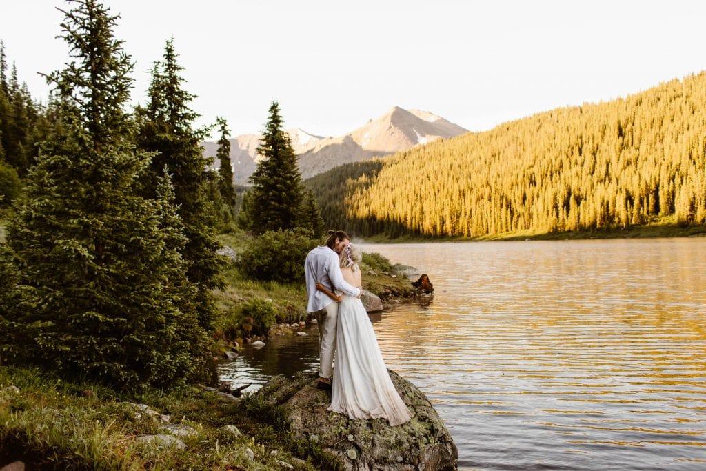lakeside wedding in Colorado
