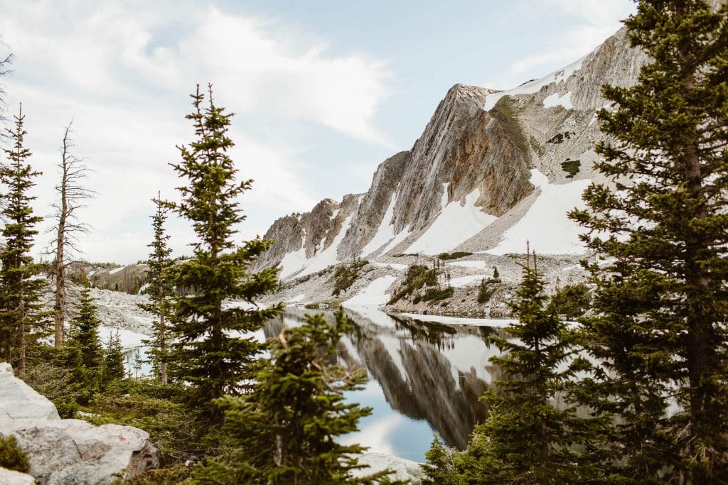 jagged granite mountains in the Rockies photographed by Colorado elopement photographers