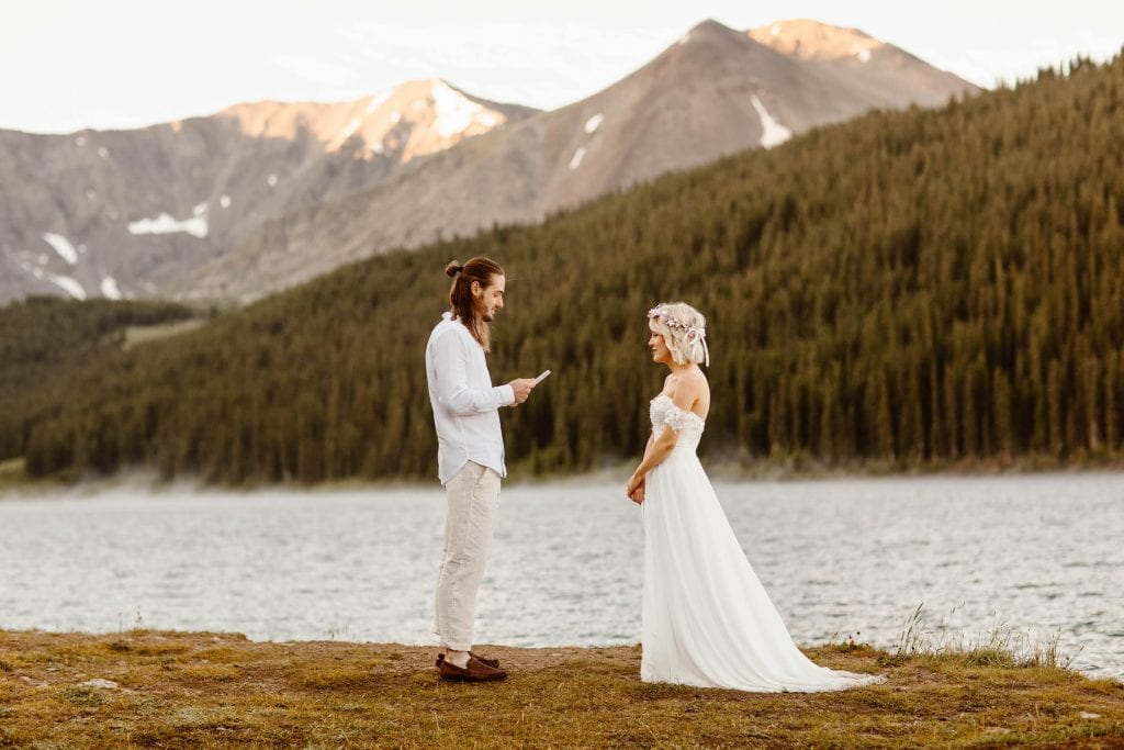 national forest small wedding venues in Colorado for elopements