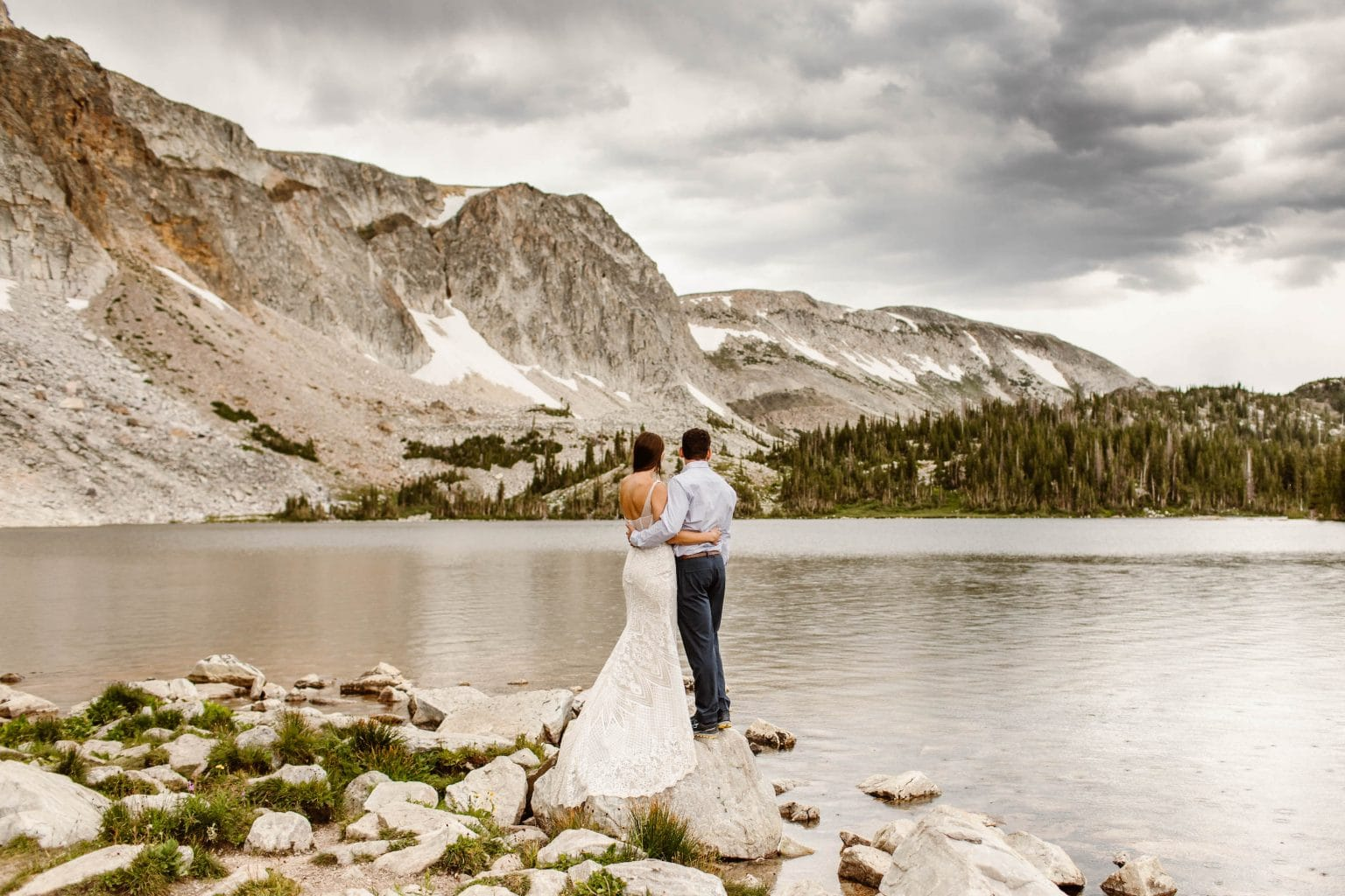 Wyoming elopement in the Snowy Range Mountains