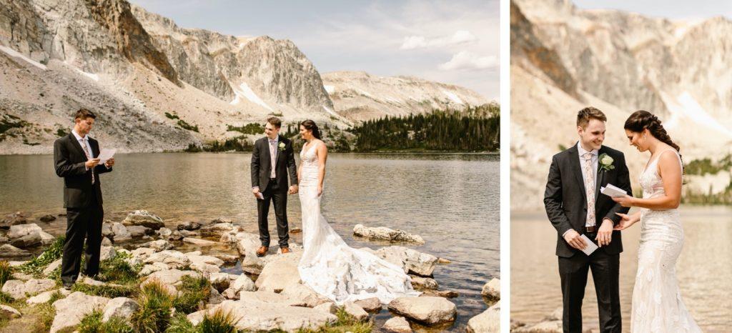 small Wyoming wedding ceremony