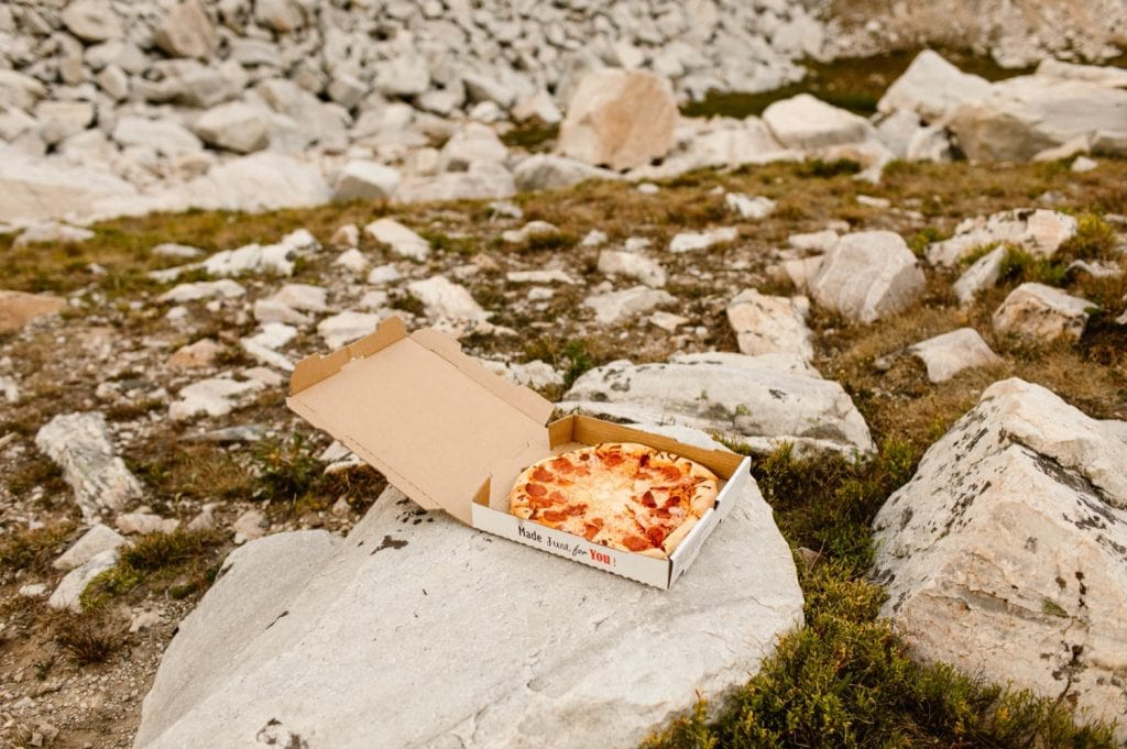 pizza in the mountains