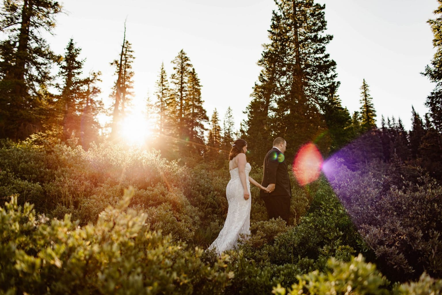 destination elopement on a high alpine trail in the Rockies