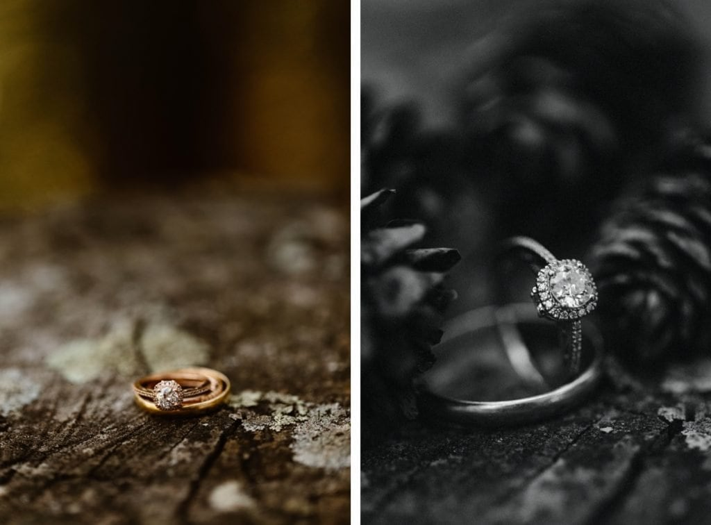 destination elopement wedding rings