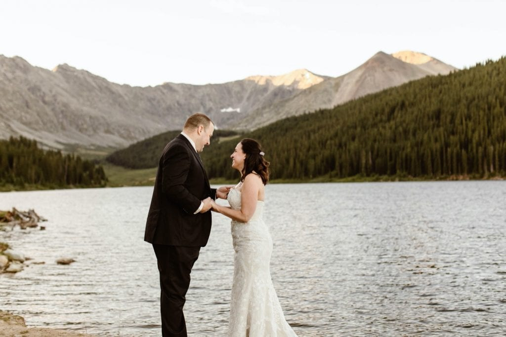 destination elopement ceremony in the Rockies