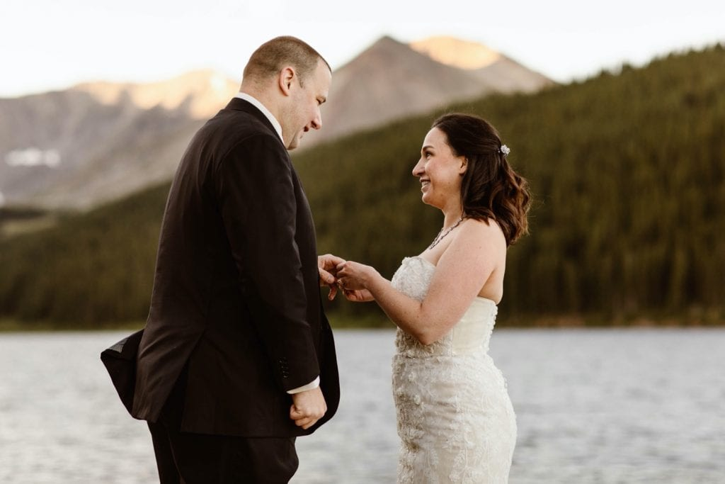 destination elopement ring exchange