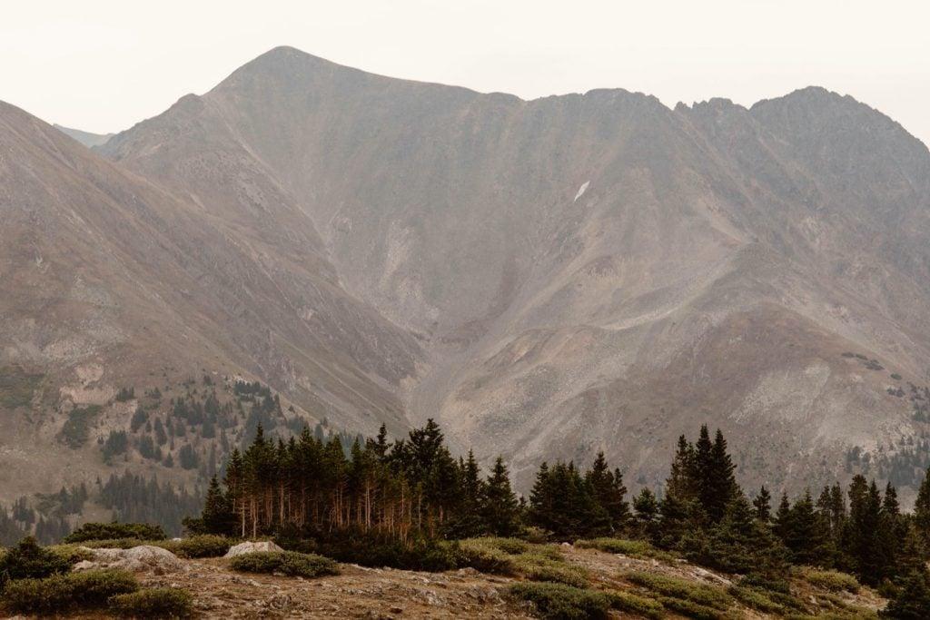mountains at dusk near Keystone