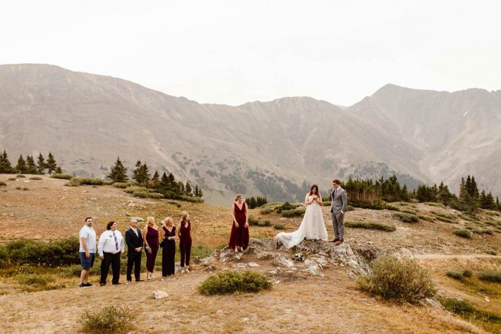 sunrise elopement ceremony