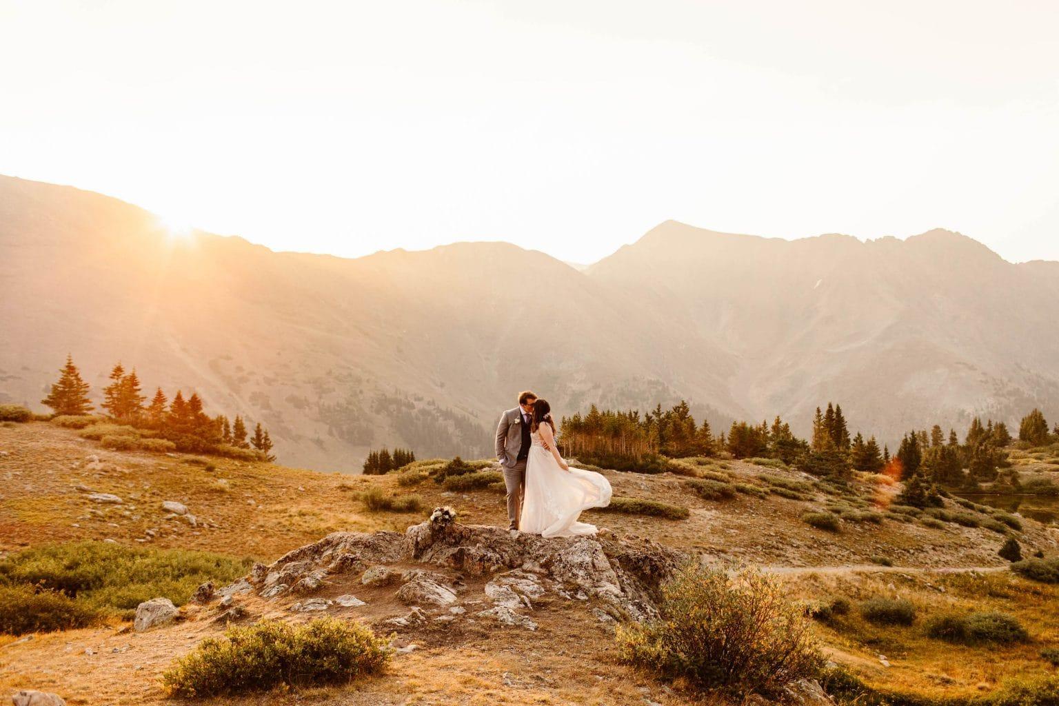 sunrise elopement photos near Keystone CO
