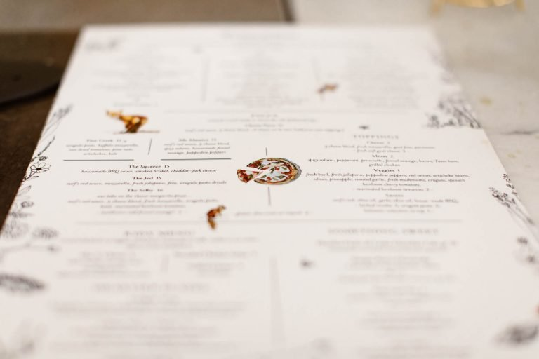 Wesley and Rose menu for the Surf Hotel Buena Vista CO