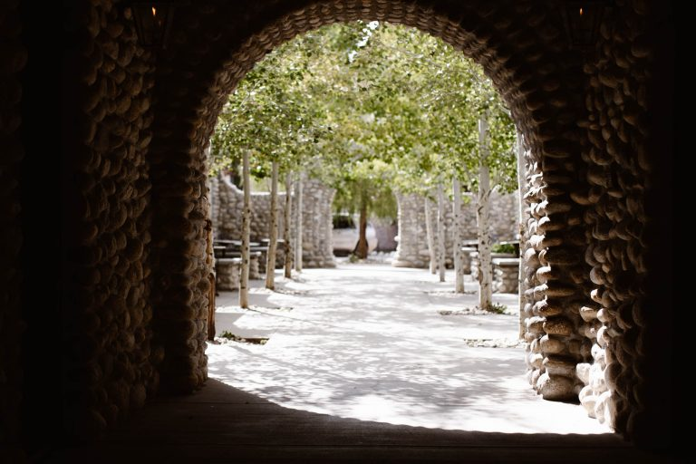 tunnel leading to the chateaus at the Surf Hotel Buena Vista CO
