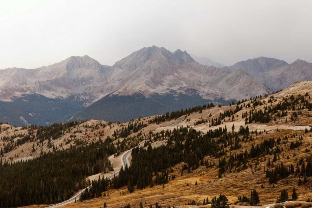 the mountains near Buena Vista Colorado on the day of Karie and Jared's elopement