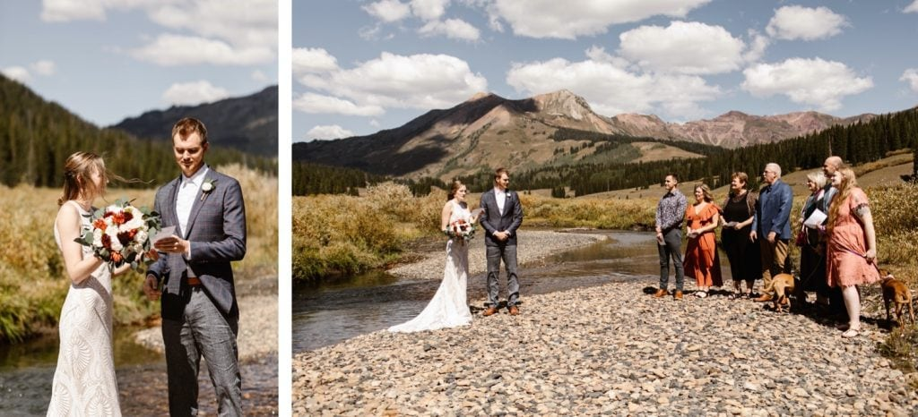 Crested Butte elopement ceremony