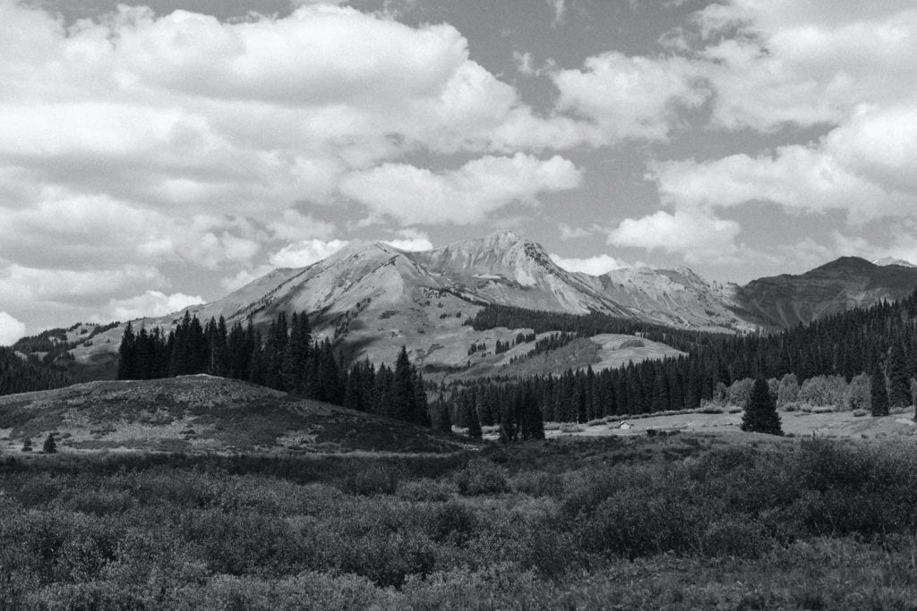 view of the mountains in Crested Butte Colorado