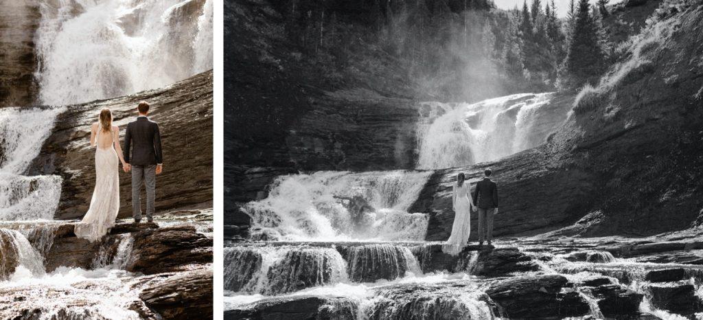 Crested Butte waterfall elopement photos