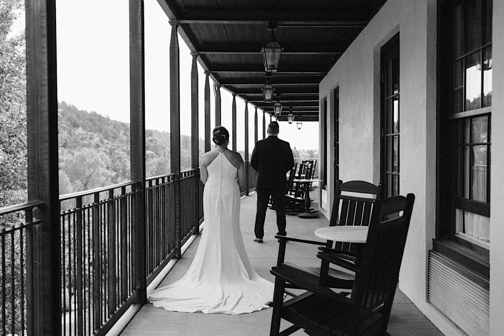 first look before couple leaves their hotel for their Great Sand Dunes National Park elopement