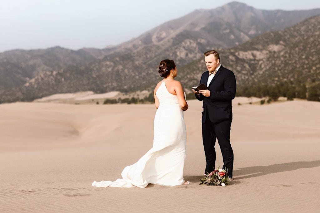 Great Sand Dunes National Park elopement ceremony