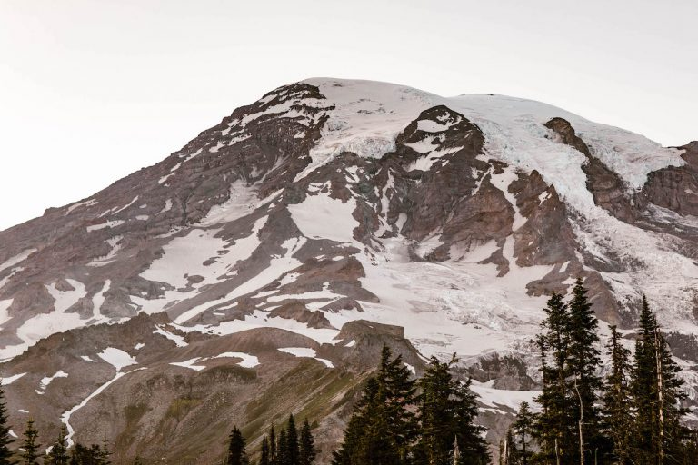 Mt Rainier elopement locations found by Colorado adventure elopement photographers