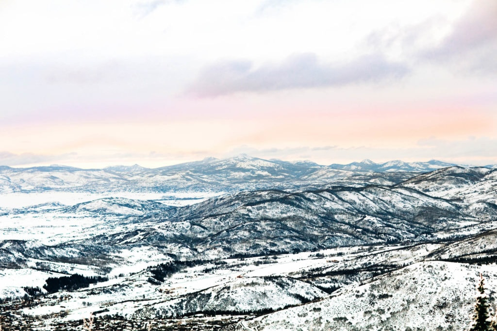 winter elopement location at an overlook near Steamboat Springs Colorado