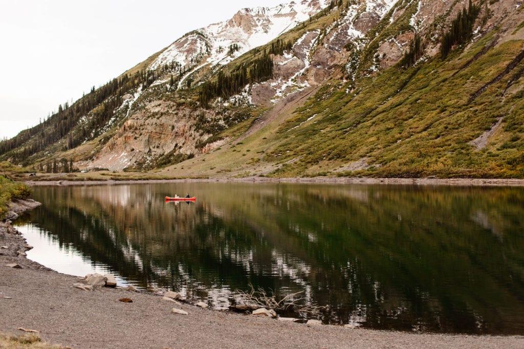 best mountain towns in Colorado - CB alpine lake in July