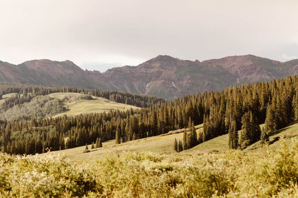 best mountain towns in Colorado - CB at sunset in July