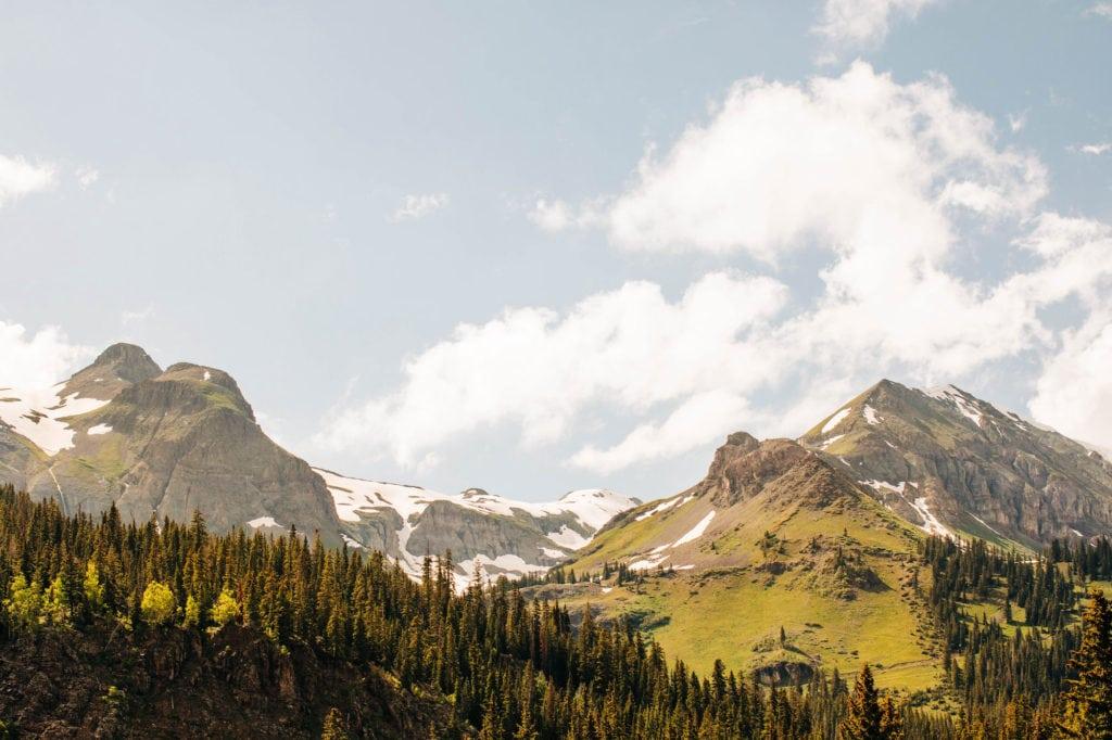 mountain views on Million Dollar Highway - best Colorado mountain towns
