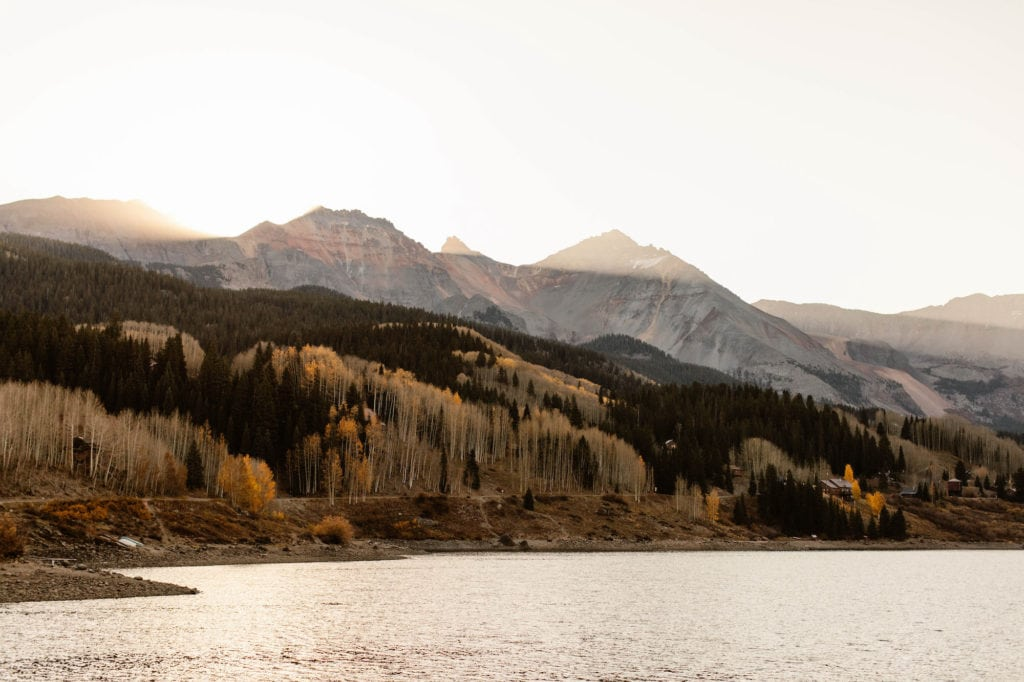 sunrise in the San Juan Mountains in Telluride - best Colorado mountain towns