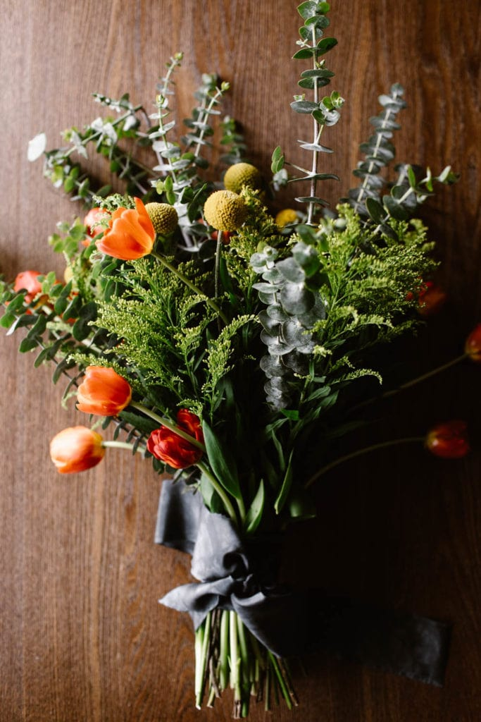 bohemian diy elopement wedding bouquet