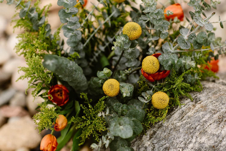 diy elopement wedding bouquet using Trader Joes flowers