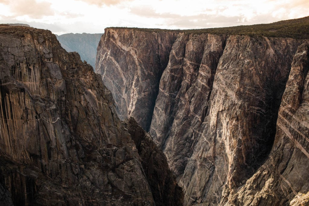 stop at black canyon on the Colorado road trip itinerary