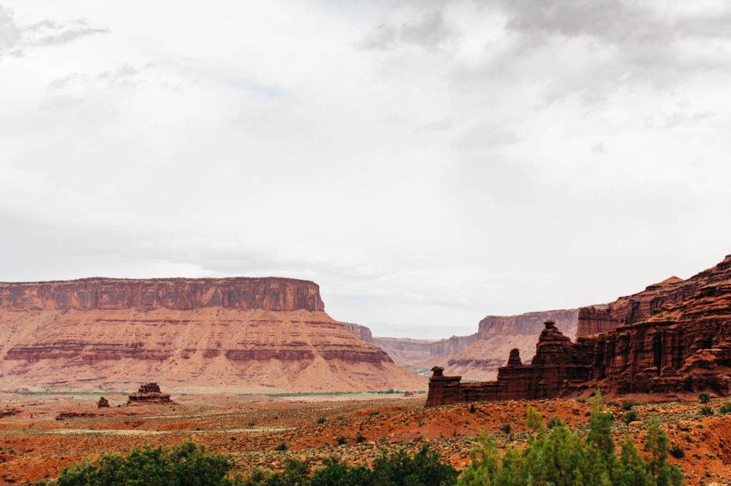 Moab Utah 128 roadside view