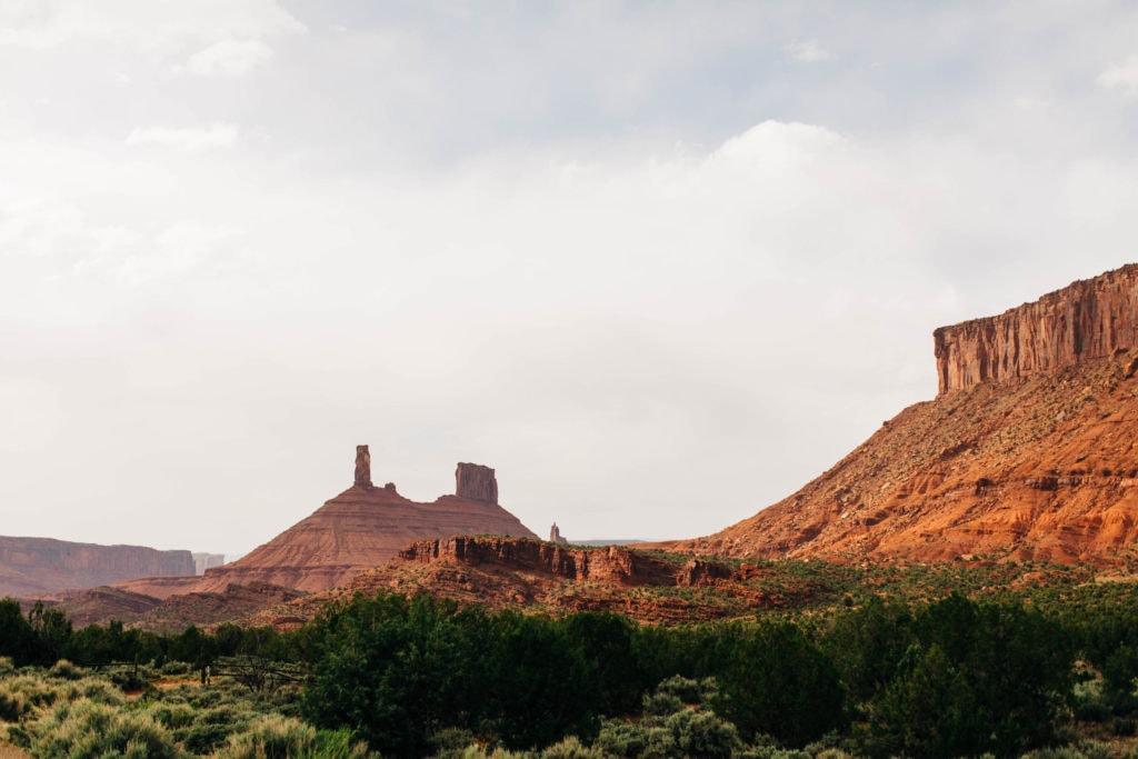 Castleton Tower in Castle Valley near Moab Utah at sunset