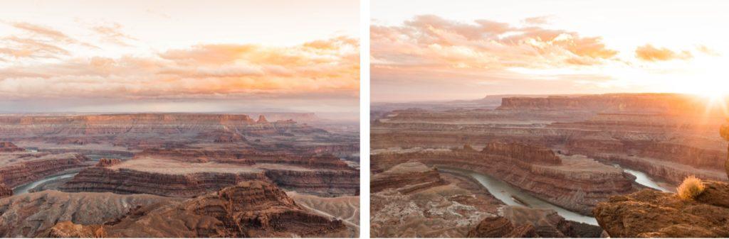 Dead Horse Point Moab Utah at sunset
