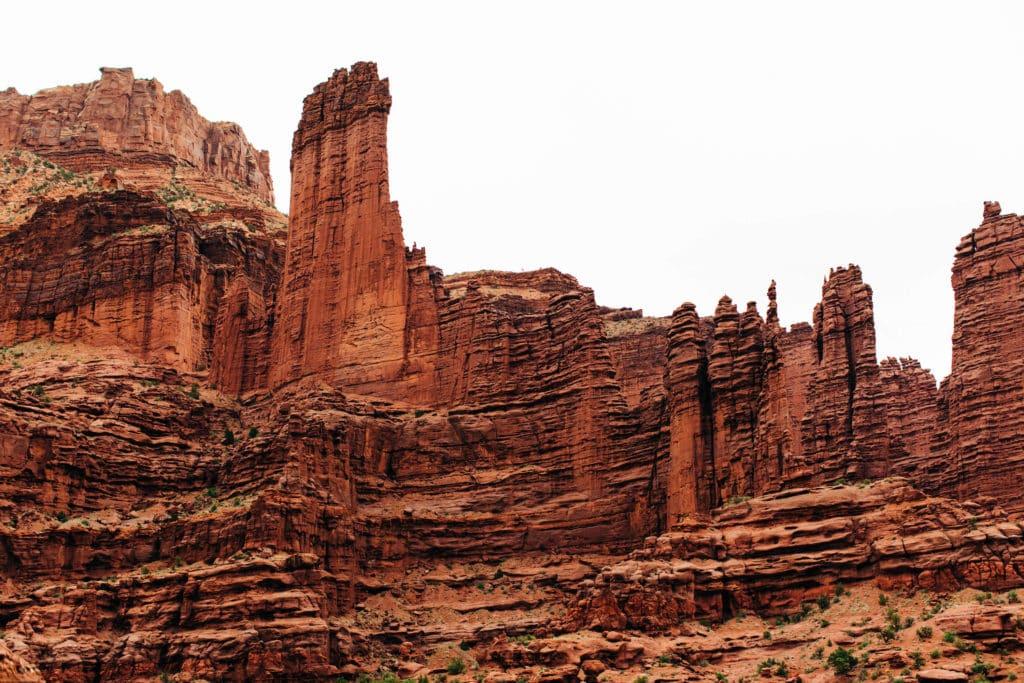 fisher towers trail hike in Moab Utah