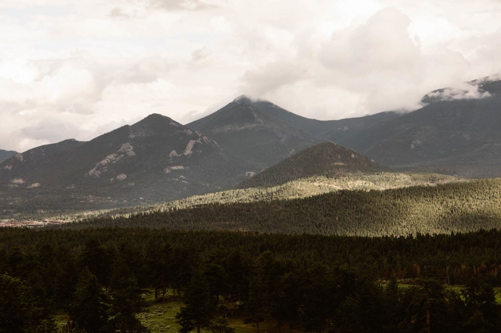 3M Curve looking out on to Moraine Park in Rocky Mountain National Park