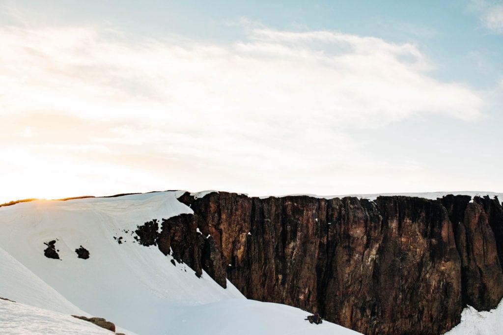 lava cliffs alongside Trail Ridge Road in Rocky Mountain National Park