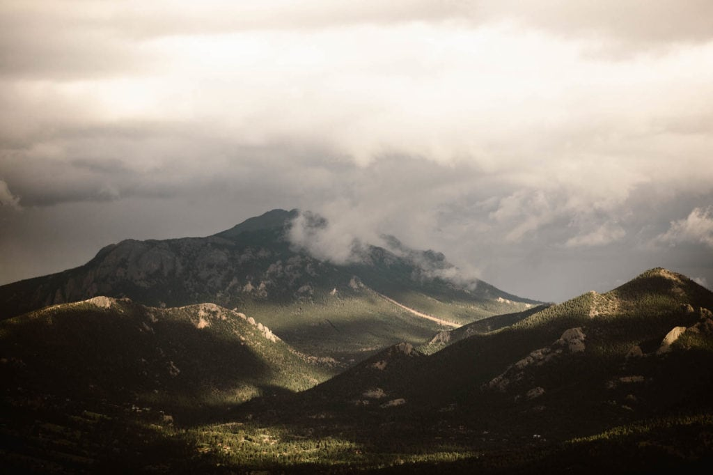 Many Parks Curve Overlook on Trail Ridge Road in Rocky Mountain National Park