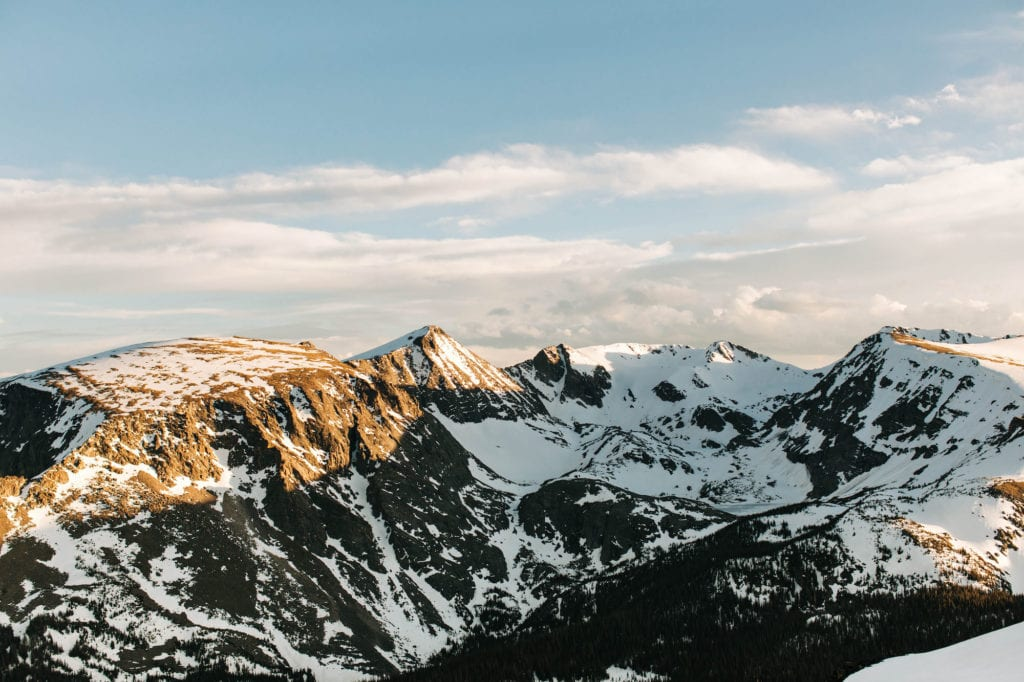view from Forest Canyon Overlook on Trail Ridge Road in Rocky Mountain National Park
